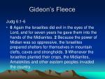 gideon s fleece