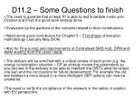 d11 2 some questions to finish