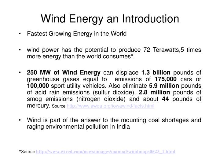 wind energy an introduction n.