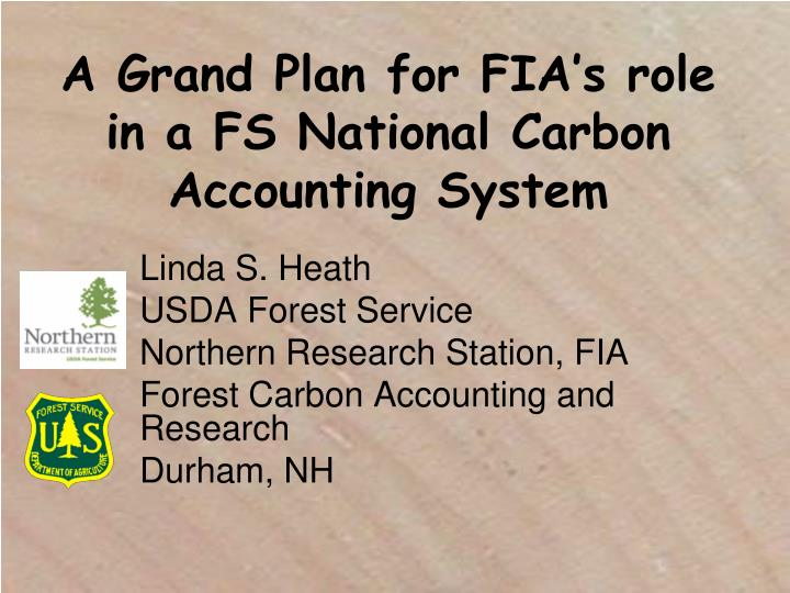 a grand plan for fia s role in a fs national carbon accounting system n.