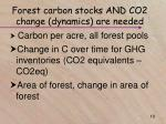 forest carbon stocks and co2 change dynamics are needed