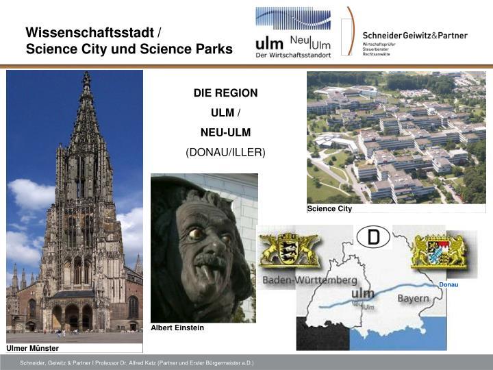 Wissenschaftsstadt science city und science parks