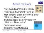 active monitors