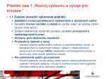 prioritn osa 1 rozvoj v zkumu a v voje pro inovace