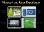 microsoft and user experience