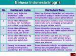 bahasa indonesia inggris