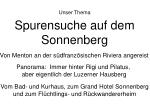 spurensuche auf dem sonnenberg