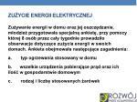 zu ycie energii elektrycznej