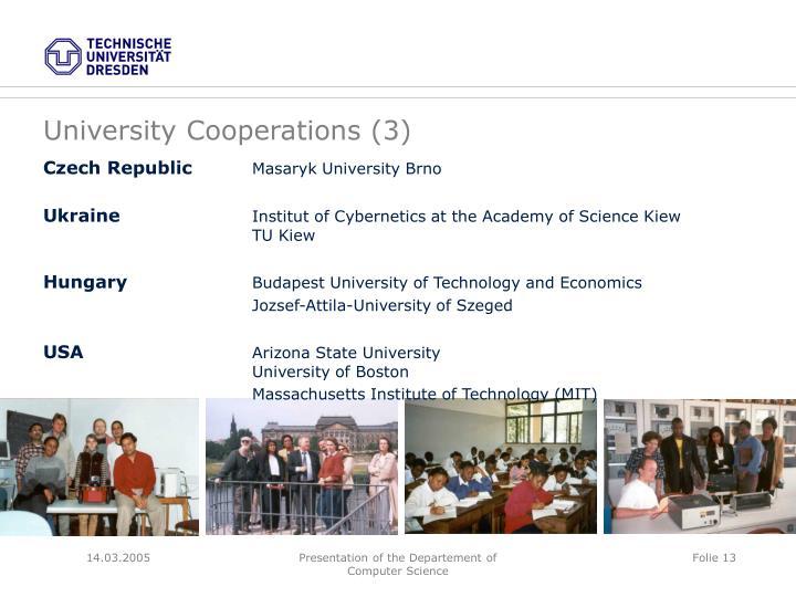 University Cooperations (3)