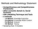 methods and methodology statement