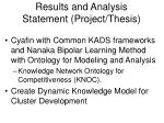 results and analysis statement project thesis