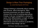 design is more than packaging by janet rae dupree ny times1