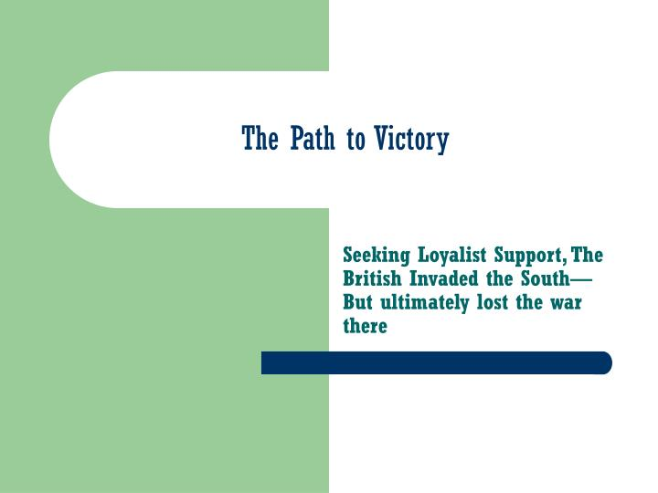 the path to victory n.