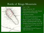 battle of kings mountain