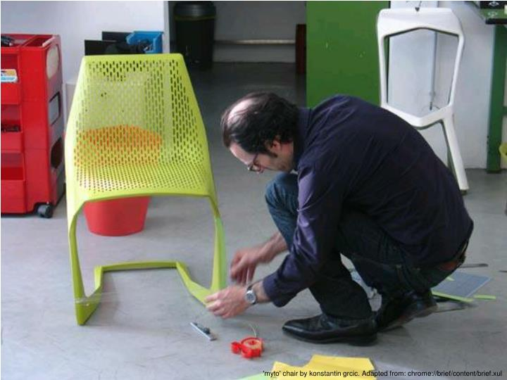 'myto' chair by konstantin grcic. A