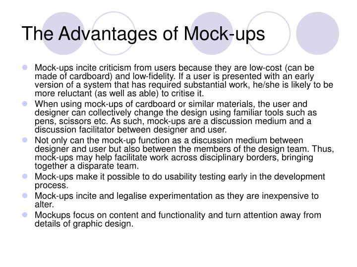 The Advantages of Mock-ups