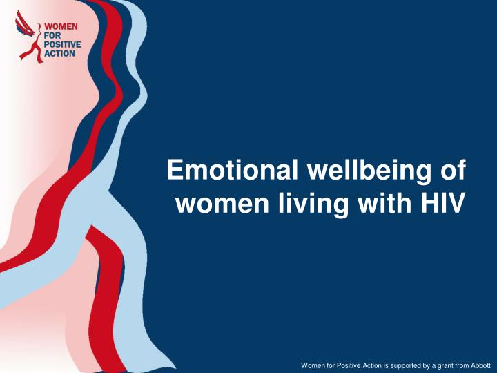 emotional wellbeing of women living with hiv n.