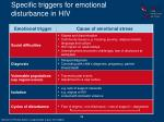specific triggers for emotional disturbance in hiv