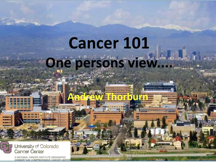 cancer 101 one persons view n.