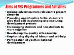 aims of nss programmes and activities