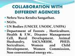 collaboration with different agencies