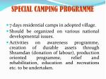 special camping programme