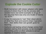 explode the cookie cutter