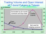 trading volume and open interest of t bond futures in taiwan
