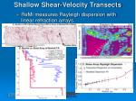 shallow shear velocity transects1