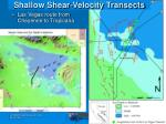 shallow shear velocity transects2