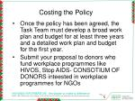 costing the policy