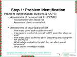 step 1 problem identification
