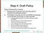 step 4 draft policy