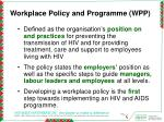 workplace policy and programme wpp
