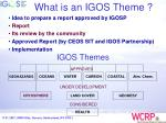 what is an igos theme