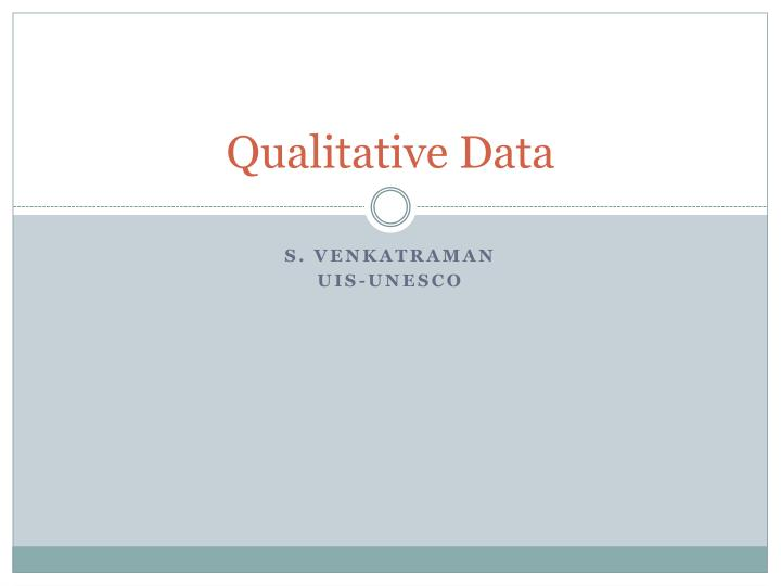 qualitative data n.