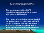 monitoring of kapb