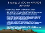 strategy of mod on hiv aids prevention