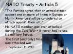 nato treaty article 5