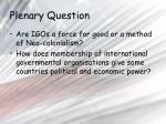 plenary question