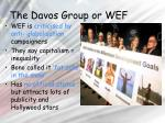 the davos group or wef