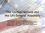 the united nations and the un general assembly