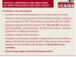 critical components and directions hiv sero prevalence and kapb survey1