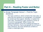 part a reading faster and better10