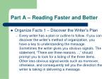 part a reading faster and better13