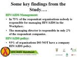some key findings from the study1