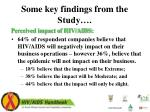 some key findings from the study2
