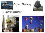critical thinking1