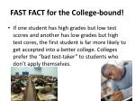 fast fact for the college bound