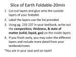 slice of earth foldable 20min